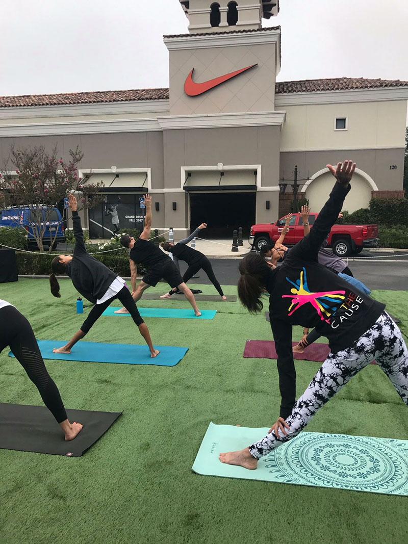 Yoga at Nike Store